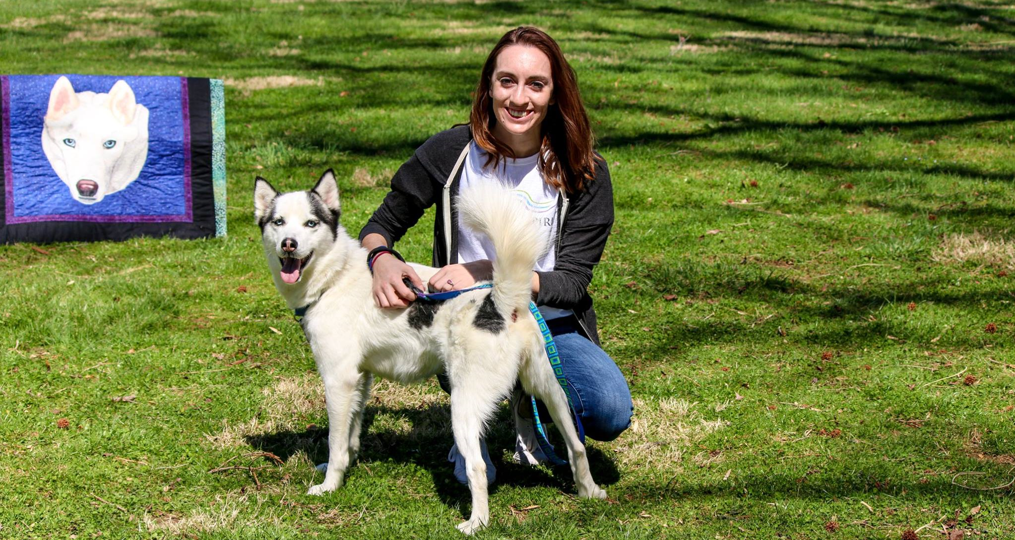 Volunteer Tori with ASR pup Perrie!