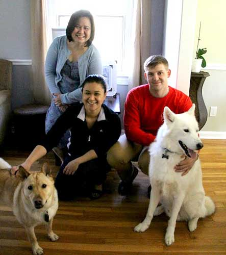 Jake the all-white Siberian Husky finally found his forever home with his adopted family.