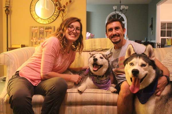 Luna the 2 year old female Siberian Husky found her forever home!
