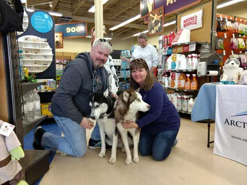 Aspen the red and white Siberian Husky found his forever home!